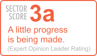Sector Score: 3a A little progress is being made. (Expert Opinion Leader Rating)